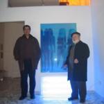 Hervé Constant con Enzo Marino (opera di V. Ceccato)