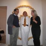 da destra: Elena Polidori, David Medalla, FIlippo Ceccarelli