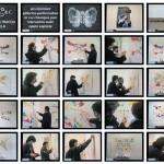DANIELA CIGNINI / MARIO MATTO, LASCIA UNA TRACCIA SU TELA: environment pittorico-performativo presso la Galleria Installart di Caserta, video, 2001