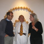 da destra: Elena Polidori, David Medalla e Filippo Ceccarelli - opening White Night a studio.ra