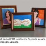 Self portrait 2008 installazione tec.mista su carta dimensione variabile