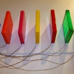 """ANDREW RUTT """"voices"""", 2007 Plexiglass and electronic componentry"""