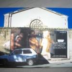 """CAST """"Architetture pubblicitarie"""", 2003 plotter painting su tela su tela, cm 67,5x39"""
