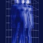"""VINCENZO CECCATO """"Dissolvenza"""", 2006 Plotter painting su tela e plexiglass, cm 100x70"""