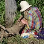 Jill Rock at work al Salice Bianco morto, May 13, 2013