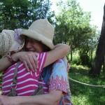 Jill Rock e Raffaella Losapio dopo il sopralluogo all'Ex-Mulino in Caffarella. May, 9, 2013