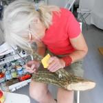 Jill Rock at work - studio.ra, July, 2012