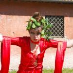 Jo Roberts, performance Altar to the Goddess – Casale Ex Mulino – Caffarella - June 2nd, 2013