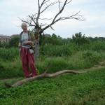 la scelta delle sculture di Jill Rock, Valle della Caffarella, May 10, 2013