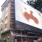 """""""Sopralluoghi gratuiti"""" su buche d'asfalto, strisce etc.. di Cosimo Angeleri - titolo """"Ponte Nomentano"""""""