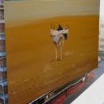 """Afrikavelde Peintures Title of the painting: """"au Pas nonchalant du bassour"""" Artiste name: Karine van de Velde Adress: 1333 chemin des Baux 06750 Séranon France www.afrikavelde.com"""