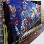 Mural mictlán en Durango México de Leonor Chacón Vera