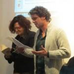 performances poetiche di Giuliana Adezio e Maurizio Sinibaldi-foto di Raffaello Paiella