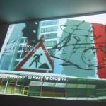 proiezione murales lavori in corso di Rosy Imbrogno