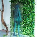 """""""The Ninph is mirrored in the River"""", 2014 - h. 2 metri - installazione di Vincenzo Ceccato"""