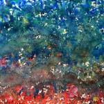 """""""Sogno sull'Almone"""" by Qinggang Xiang - pittura su carta, cm 50 x 70, 2014"""
