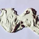 """""""Il Sacro fiume Almone ferito"""" di Eleonora Del Brocco, cm 93 x 55 h, polimaterico, gesso e plexiglass"""
