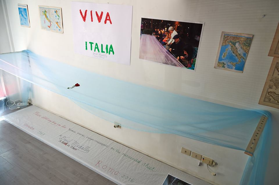 A Stitch In Time, Viva Italia by David Medalla - ph. Faber
