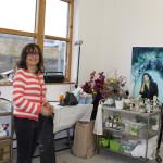 Roberta Kravitz in her studio in London