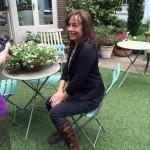 Roberta in her Garden flat