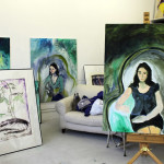 Roberta's studio, portraits with flowers